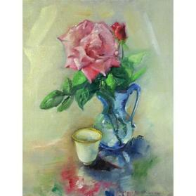 Pitcher with Red Roses and a Tea Cup