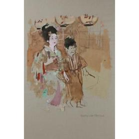 Geisha with Attendant
