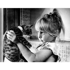Girl and Kitten