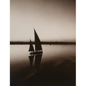 A Felucca Glides on the Ancient River (Nile River, Nubia)