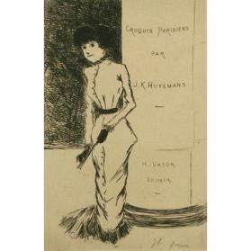Woman with Fan from Croquis Parisiens