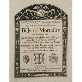 Frontispiece from Bills of Mortality from December 27, 1664 through December 19, 1665