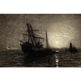 Ships by Moonlight