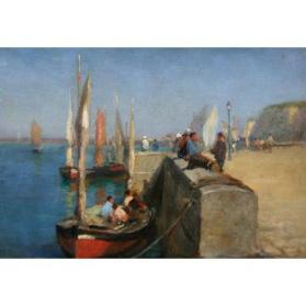 Boats and Shoreline, Dieppe, France