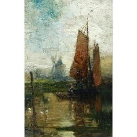 Untitled (Dutch Harbor Scene)