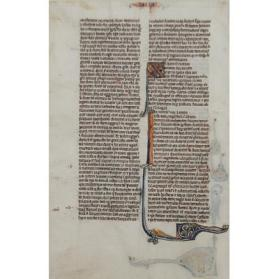 Illuminated Bible Leaf from the Text of Haggai