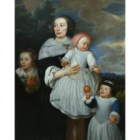 Portrait of a Lady with Her Three Children