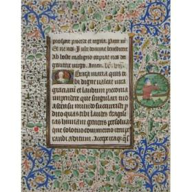 Illuminated Manuscript Leaf from a Book of Hours