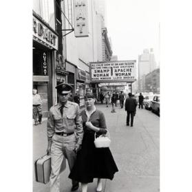 Couple in Front of Movie Theater, New York City