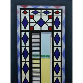 Untitled (Stained Glass Door)
