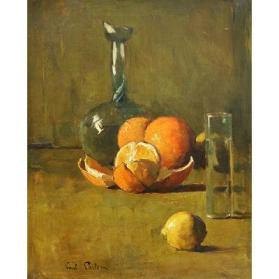 Still Life with Oranges, Lemon, Glass and Vase