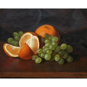 Still Life with Oranges and Grapes