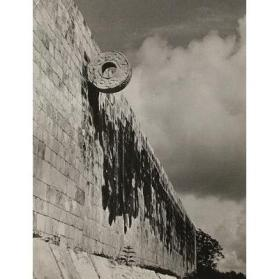A Wall of the Ball Court, Yucatan, Mexico