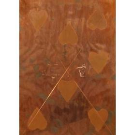 Cancelled Copper Plate for Seven Hearts from Playing Cards