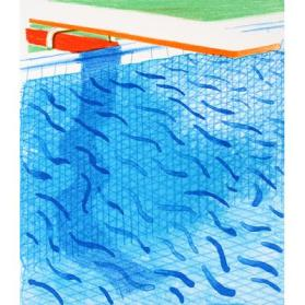 Pool Made with Paper and Blue Ink for Book, 1980