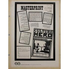 Culture Hero, Masterprint #3: Jill Johnston Exposed