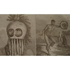Portrait of a Man of the Sandwich Islands in a Mask and Representation of a Man of the Sandwich Islands Dancing